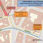 Corte de tráfico en Puerta Osario
